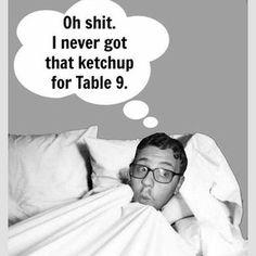 21 Soul-Crushing Moments Every Server Dreads -- too funny! Waitress Humor, Waitress Problems, Server Memes, Server Humor, Work Memes, Work Humor, Work Funnies, Dreads, Restaurant Humor