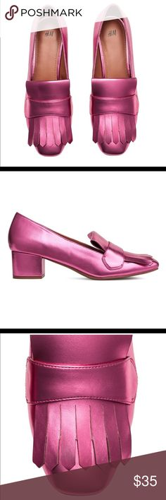 ISO H&M pink Block heeled shoes I'm looking to buy these h&m pink block heeled shoes in size 6 or 7. Please help me find these 🙏🏻 Thank you everyone who is sharing my listings (: H&M Shoes Heeled Boots