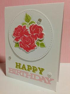 Sweet Life, Stylish Sentiments - Birthday Dies: Sweet Life, Birthday Trio, ink: sweet blush, hibiscus burst , berry sorbet, simply chartreuse, spring moss
