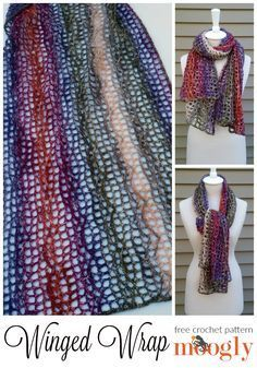 Winged Wrap: free crochet pattern on Mooglyblog.com! *** #crochet patterns #gift idea #handmade holiday #christmas #shawl #wrap #diy #fashion #crafts