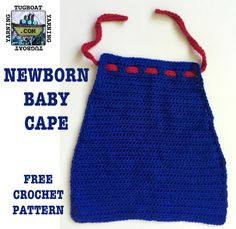 Newborn Baby Cape - free crochet pattern from Tugboat Yarning!