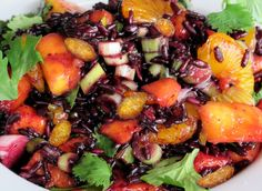 Gluten Free Earth Family Black Rice and Mango Salad. http://raleighglutenfreeexpo.blogspot.com/