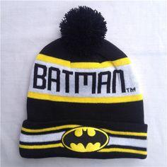 Hot! New Fashion Winter Warm Cap Women Embroidery Batman Beanies Hat Autumn Unisex Cotton Hip-hop Wool Knitted Hat Caps For Men