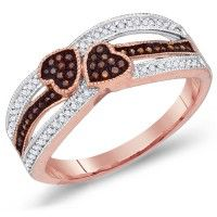 Chocolate Brown Diamond Heart Ring Band Fashion 10k Rose Gold (0.20 ct.tw).    http://www.jeweltie.com/chocolate-brown-diamond-heart-ring-band-fashion-10k-rose-gold-0-20-ct-tw.html  $890.00