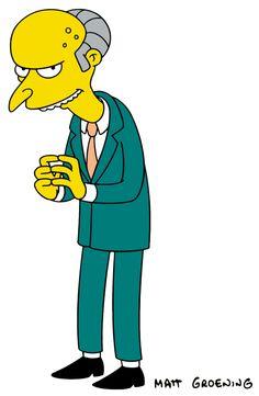 Charles Montgomery Plantagenet Schicklgruber Burns, The Simpsons The Simpsons Movie, Simpsons Characters, Simpsons Art, Fictional Characters, Charles Montgomery, Montgomery Burns, Homer Simpson, Sr Burns, Cartoon Tv