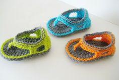 Baby boy sandals crochet pattern