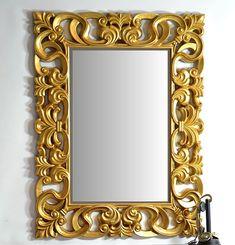 Espejo Clasico Hanae Material: Madera de Roble Acabado en oro satinado... Eur:221 / $293.93