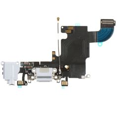 [USD7.94] [EUR7.11] [GBP5.68] iPartsBuy Charging Port Flex Cable Ribbon for iPhone 6s(White)
