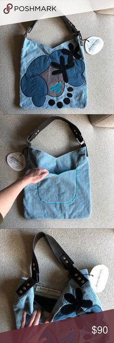harajuku girl handmade hobo tote bag harajuku girl handmade hobo tote bag. Handmade of reclaimed materials and vegan leather handle. kennakristine Bags Totes