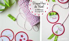 Des étiquettes pour offrir vos cadeaux de Noël, parfait pour les cadeaux des maitresses d'école !
