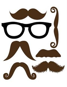 Moustache & Glasses Printable … Más