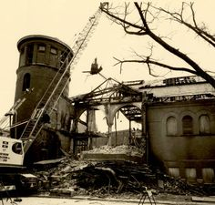 The demolition of the Grosvenor Library. #demolition #history
