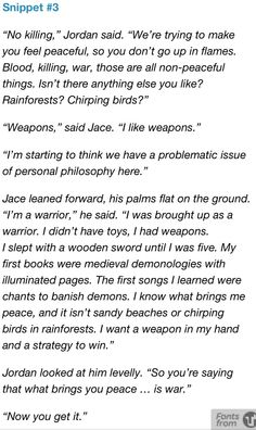 The Mortal Instruments City of heavenly Fire: Snippets