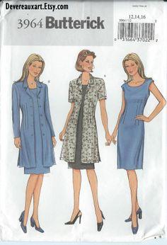 2003  Butterick Pattern 3964  UNCUT  Size 121416  by Devereauxart, $5.00