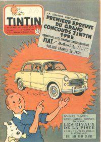 Journal de TINTIN édition Belge N° 50 du 15 Décembre 1954 - Première épreuve du grand concours Tintin 1955