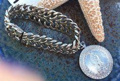 Vintage Sterling Silver Charm Bracelet Our by LorasVintageShop