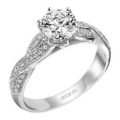 "Artcarved 0.25 Carat ""Calla"" Twist Shank Diamond Engagement Ring in 14 · 31-V200ERW-E · Ben Garelick Jewelers"