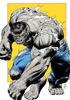 Hulk by Patrick Zircher Hulk Comic, Hulk Marvel, Marvel Heroes, Marvel Characters, Avengers, Fictional Characters, Comic Books Art, Comic Art, Comic Book Artists
