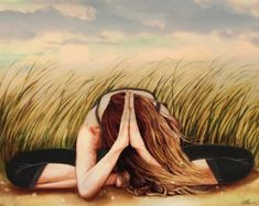 yoga art print by Claudia Tremblay by claudiatremblay on Etsy