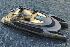 Der Ego Power Catamaran: Mauro Giamboi konzipiert eine Superyacht  Nicht nur Autos sind hervorragende Objekte, an denen sich Produktdesigner nach Herzenslust austoben können. Auch Boote sind sehr beliebt, um extrav...