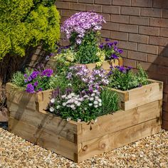 Buy the Forest Garden Caledonian Tiered Planter today! We offer a truly Unique Shopping Experience with Award Winning 5 Star Customer Service, Great Deals and Huge Savings! Back Garden Design, Backyard Garden Design, Diy Garden, Small Backyard Landscaping, Garden Landscape Design, Garden Boxes, Back Garden Ideas, Tiered Landscape, Corner Landscaping
