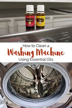 Your washing machine works hard for your family! Learn how to clean a washing machine using essential oils and natural ingredients. Essential Oils Cleaning, Household Cleaning Tips, Cleaning Recipes, Essential Oil Uses, House Cleaning Tips, Cleaning Hacks, Cleaning Routines, Cleaning Checklist, Household Cleaners