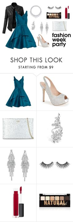 """""""New York Fashion Week After Party"""" by disney-nerd-designs ❤ liked on Polyvore featuring LE3NO, Alyce Paris, Lauren Lorraine, Kate Spade, Harry Winston, Humble Chic, MAC Cosmetics, NYX, NYFW and Newyork"""
