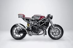 I know it isn't a harley but it is awesome for a cafe racer. The amazing Ducati 749 cafe racer by South Garage. Nice, but I love it as it comes off showroom too Ducati 749, Moto Ducati, Ducati Motorcycles, Vintage Motorcycles, Custom Motorcycles, Custom Bikes, Ducati Superbike, Custom Cycles, Ducati Cafe Racer