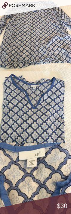 J.Jill cotton tunic with 3/4 sleeve. J.Jill cotton tunic with 3/4 sleeve. J. Jill Tops Tunics