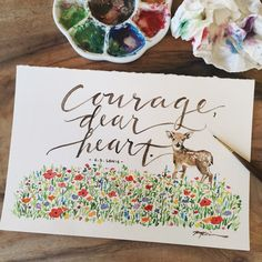 Courage, Dear Heart. With the help of Christ, we can have the courage to boldly approach the throne of grace.