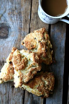Tartine's Scones - and the best idea in this recipe is to freeze the dough and pull it out for weekday mornings.