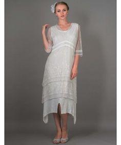 Vintage Titanic Tea Party Dress in Ivory by Nataya