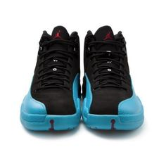 Air Jordan 12 Retro 'Gamma Blue' Release Date ❤ liked on Polyvore featuring shoes, jordans, sneakers and patike