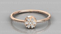 Antique Edwardian diamond daisy ring, old Seven cut diamonds ring Gold Cluster Natural Diamond Wedding Signet Ring, Delicate Tiny Gold Ring, by UmbrellaJewels on Etsy Round Cut Diamond, Round Diamonds, Gold Diamond Rings, Gold Rings, Jewelry Accessories, Jewelry Design, Signet Ring, Solitaire Ring, Daisy Ring