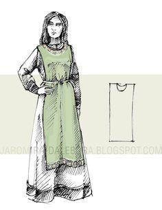 Kram Jaromiry i Dalebory: Słowianka zachodnia - strój w X wieku / Western Slavic garment from X c.