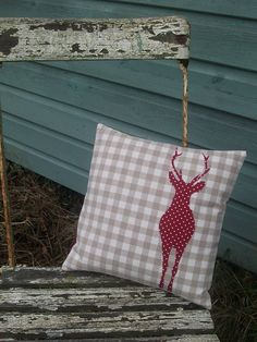 Reindeer pillow! Great for Christmas