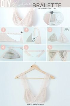 Creating DIY Fashion Trends – Designer Fashion Tips Lingerie Design, Sewing Lingerie, Jolie Lingerie, Lace Lingerie, Diy Clothing, Sewing Clothes, Clothing Patterns, Fashion Sewing, Diy Fashion