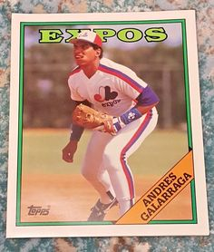 ANDRES GALARRAGA 1988 Topps FOLDER Montreal Expos  9.5 x 11.75 inches #ToppsSportsShots #MontrealExpos