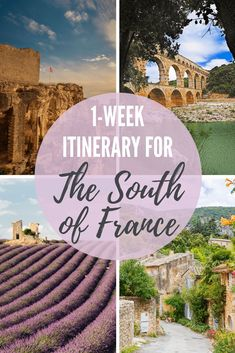 Looking for the perfect 1-week itinerary for the South of France? This 7 day Provence itinerary ticks off all the best best of the region. Enjoy your trip to Southern France with insider knowledge from a local. #france #southoffrance #provence #itinerary