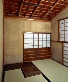[Omote senke] tea room: Hogobari tea room.  [表千家不審菴]反古張りの席:反古張りの席