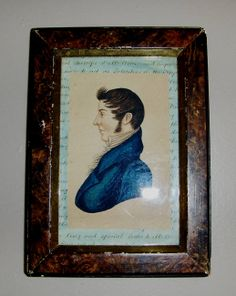 1815 style watercolor of a Gentleman by Steve Shelton in early frame. (SOLD)