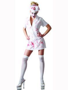 Psycho Nurse Adult  Sexy Ladies Fancy Dress Women s Halloween Costume Ex Display