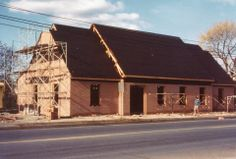 Delmar Public Library, under construction in 1982.