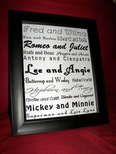 Personalized Couple Word Art Good CompanyClassic by ogloriousday, $15.00
