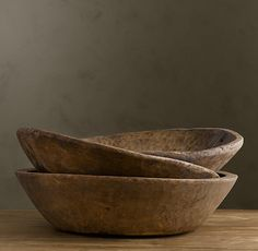 dailyfotojournal: Vintage Naan Bowls via Restauration Hardware Primitive Kitchen, Primitive Antiques, Wooden Kitchen, Rustic Bowls, Wood Bowls, Restauration Hardware, Pots, Dough Bowl, Southwestern Style