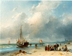 Charles Henri Joseph Leickert (1816-1907) orteren van de vangst. (Coll. Simonis&Buunk, Ede)