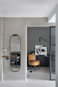 studio ro+ca — PS House Studio Apartment Design, Apartment Interior Design, Interior Exterior, Interior Decorating, Living Roon, Home Living Room, Mini Loft, Workspace Design, Modern Kitchen Design