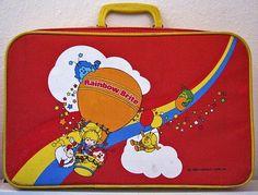 80s rainbow brite kids suitcase