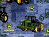 2 Yards Vintage John Deere Fabric - Denim and Tractors for Quilting Sewing Crafts John Deere Fabric, Tractor Quilt, John Deere Tractors, Old Jeans, Sewing Crafts, Monster Trucks, Baby Boy, Recycling Ideas, Quilts