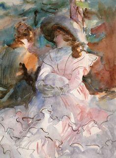 "transiberiana: "" Ladies in the shade - John Singer Sargent 1912 """